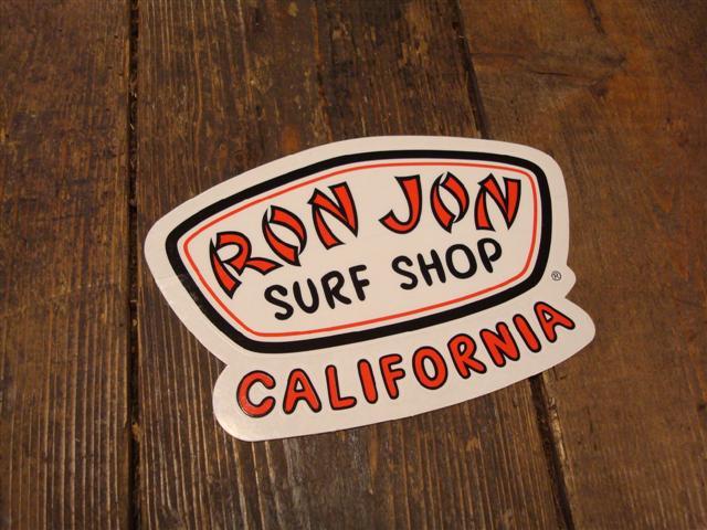 stickers ron jon logo sticker